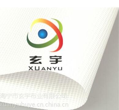 生产供应PVC带底膜喷绘网,白色网格布