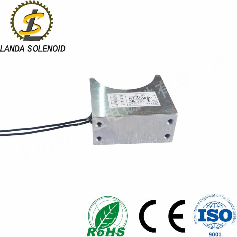 定制电磁铁 24V圆管推拉电磁铁 兰达直销推拉式电磁铁