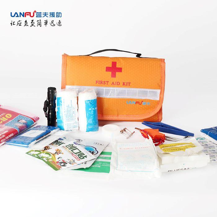 车用家用户外便携旅行企业家庭救援 蓝夫LF-12006急救包