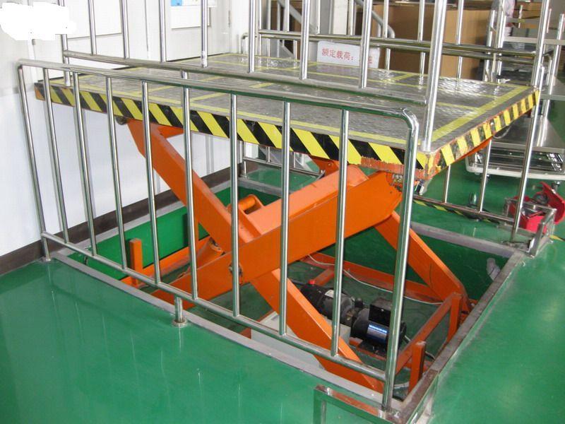 固定剪叉式升降机结构坚固载重量大货物传输经济便捷