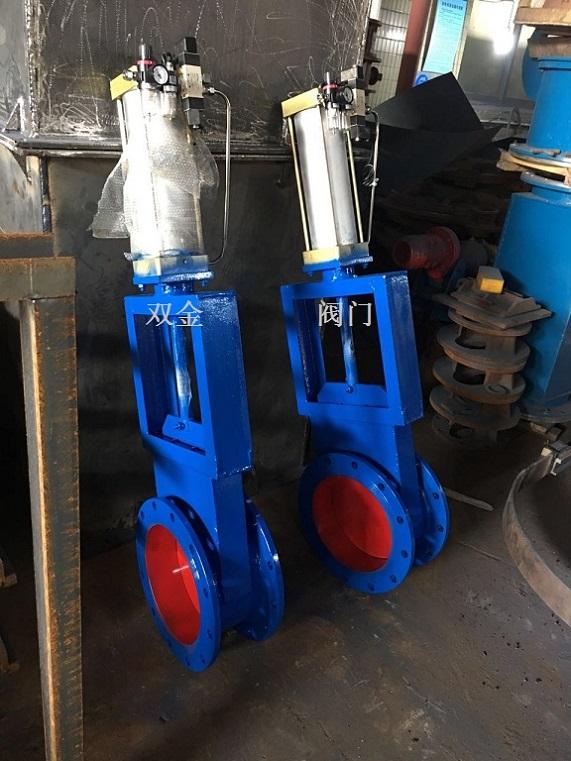 气动圆形插板阀LCQ-1